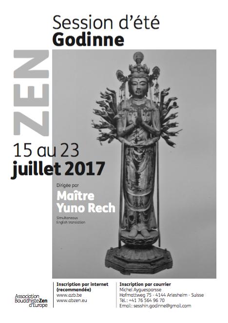 affiche zomersessie in Godinne 2016